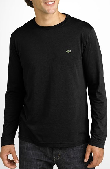 7178c015fb79e1 ... Lacoste Long Sleeve Pima Cotton T Shirt ...
