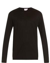 Sunspel Long Sleeved Cotton Jersey T Shirt