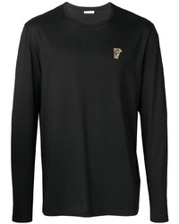 Versace Collection Medusa Logo Patch Long Sleeve T Shirt