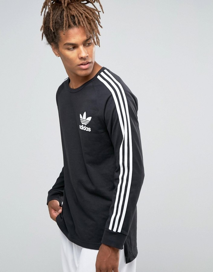 nice cheap no sale tax new high £33, adidas Originals Adicolor Long Sleeve T Shirt B10714