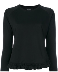 Simone Rocha Ruffle Detail Long Sleeve T Shirt