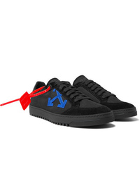 Off-White 20 Suede Trimmed Canvas Sneakers