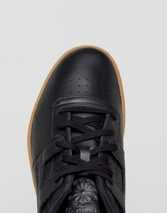 Club Workout Gum Sole Sneakers In Black Bs6206