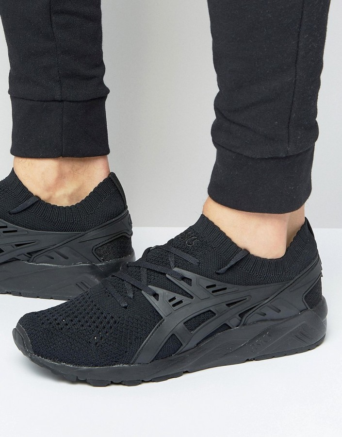 new style 82f3a 84eed £99, Asics Gel Kayano Knitted Sneakers In Black H705n 9090