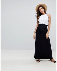ASOS DESIGN Maxi Skirt With Paperbag Waist