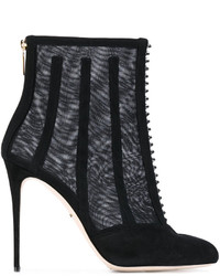 Dolce & Gabbana Mesh Cage Ankle Boots