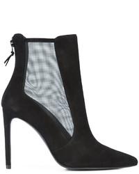 Stuart Weitzman Mesh Panel Heeled Ankle Boots