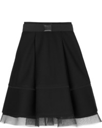 Black Mesh Full Skirt