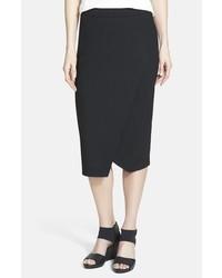 Eileen Fisher Faux Wrap Jersey Skirt