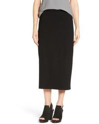 Eileen Fisher Jersey Straight Midi Skirt