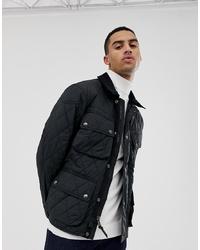 Polo Ralph Lauren Quilted Biker Jacket With In Black