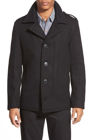 02dea477952 Slim Fit Wool Military Jacket. Black Military Jacket by Schott NYC