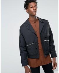 Smart biker jacket in black satin medium 798590