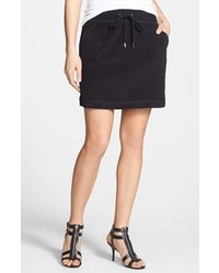 MICHAEL Michael Kors Michl Michl Kors Terry Cloth Short Skirt Black Silver X Small
