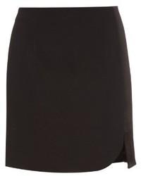 Mugler asymmetric stretch cady mini skirt medium 396093