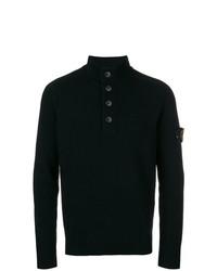 Stone Island Buttoned Collar Sweater