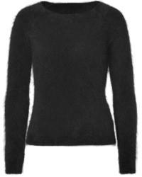 Black Mohair Crew-neck Sweater