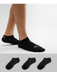 Puma 3 Pack Trainer Socks In Black 261080001200