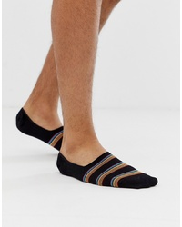 Paul Smith Multi Stripe Block No Show Sock