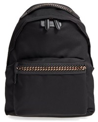 Stella McCartney Falabella Go Nylon Backpack Black