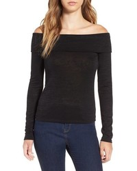Leith Foldover Off The Shoulder Top