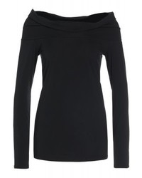 Ralph Lauren Off Shoulder Long Sleeved Top Black