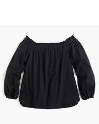 J.Crew Petite Long Sleeve Off The Shoulder Top