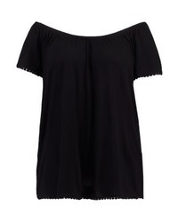 Anna Field Print T Shirt Black