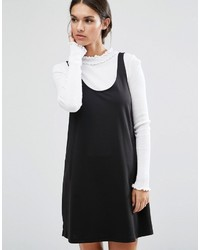 Asos Scoop Neck Shift Dress In Ponte With Pocket Detail