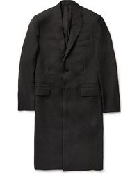 Givenchy Band Trimmed Wool Overcoat
