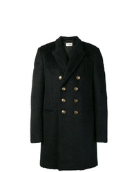 Saint Laurent Double Breasted Fitted Coat