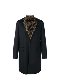 Fendi Ff Motif Single Breasted Coat