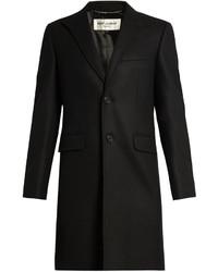 Saint Laurent Single Breasted Wool Overcoat