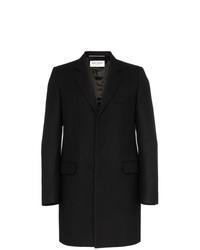 Saint Laurent Single Breasted Wool Coat