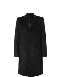 Givenchy Slim Fit Leopard Jacquard Wool Coat