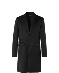Isabel Benenato Slim Fit Virgin Wool Twill Coat