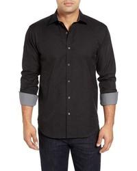 Black Paisley Long Sleeve Shirt