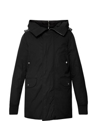 Rick Owens Cotton Blend Canvas Hooded Down Jacket