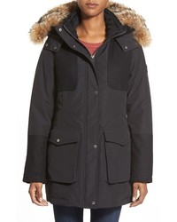 Pendleton Juneau Genuine Coyote Fur Trim Melton Detail Down Parka