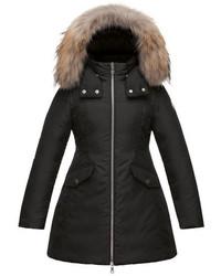 Moncler Obax Hooded Down Coat Black Size 8 14