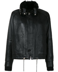 Saint Laurent Slouchy Leather Parka Jacket