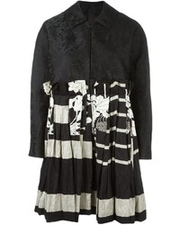 Black Patchwork Coat