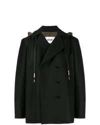 MSGM Double Breasted Hoodie Coat