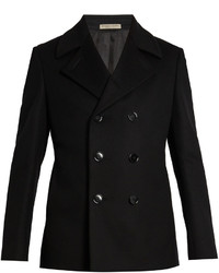 Bottega Veneta Double Breasted Wool Pea Coat