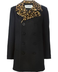 Saint Laurent Fur Lapel Peacoat