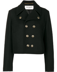 Saint Laurent Short Peacoat Jacket