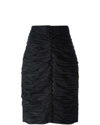 Lanvin Vintage Ruched Pencil Skirt