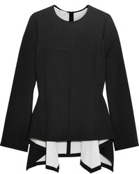 Stella McCartney Stretch Wool Peplum Top