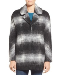 Sam Edelman Erin Blurry Plaid Coat