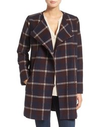 Cupcakes And Cashmere Renley Plaid Notch Collar Coat
